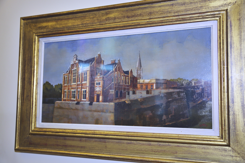 Martin Mooney painting of Verbal Arts Centre