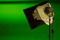 Studio light green background