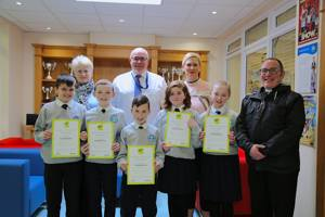 Children presented with certificates