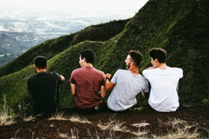 Boys on hillside
