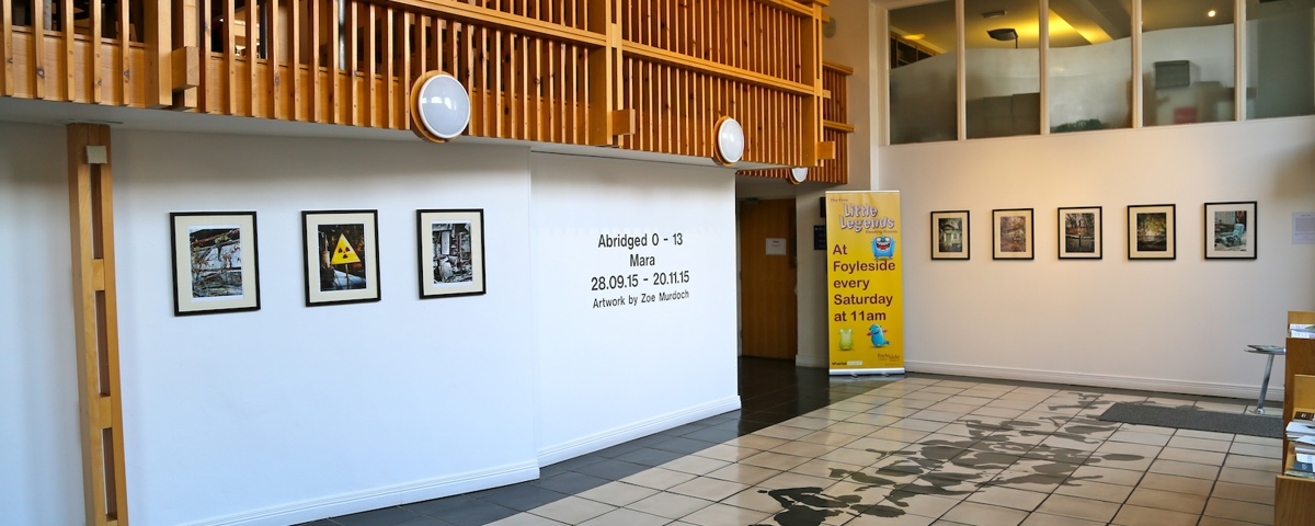 Exhibition area in foyer of Verbal