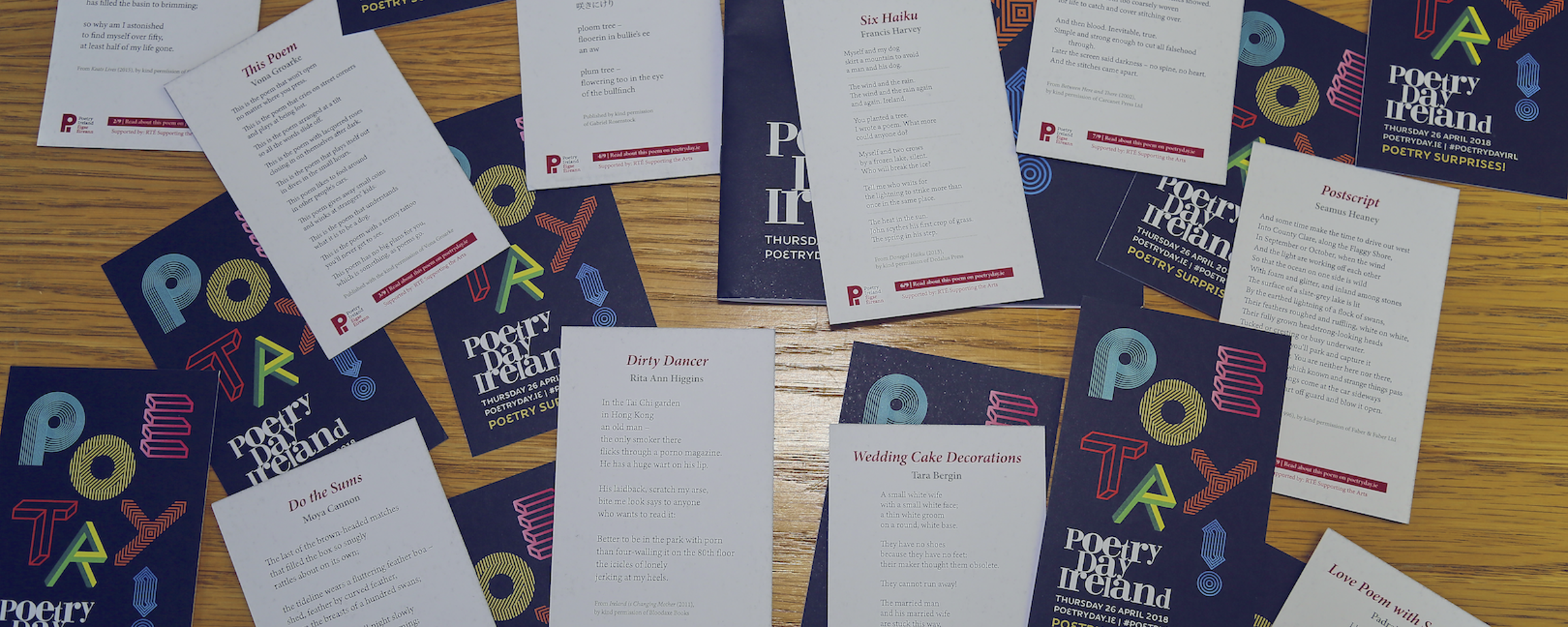 Pocket poems from Poetry Ireland