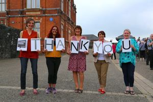 Verbal staff say thank you